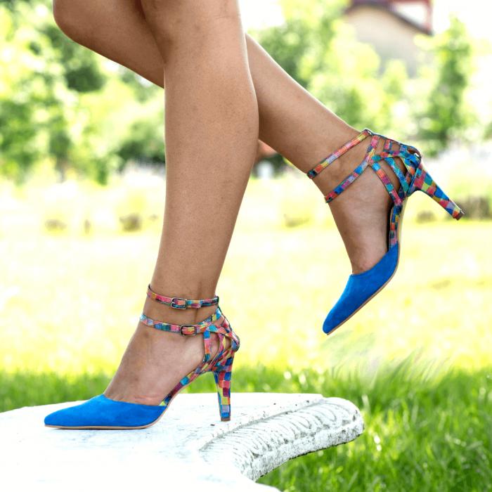 Pantofi Stiletto Blue Joy CZ 09 3