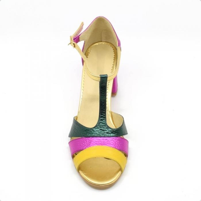 Sandala din piele naturala Beaty Chic 2