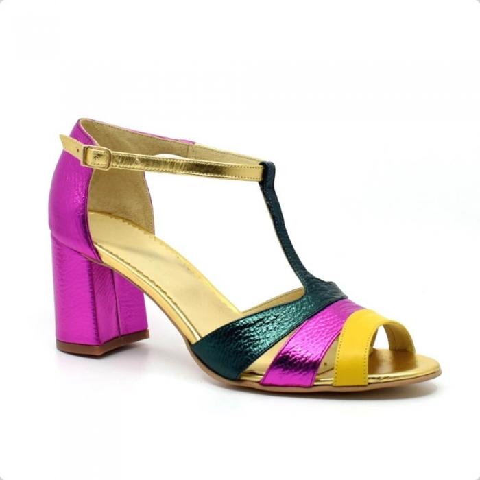Sandala din piele naturala Beaty Chic 3
