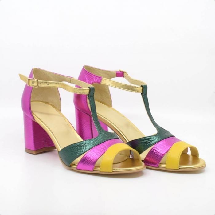 Sandala din piele naturala Beaty Chic 0