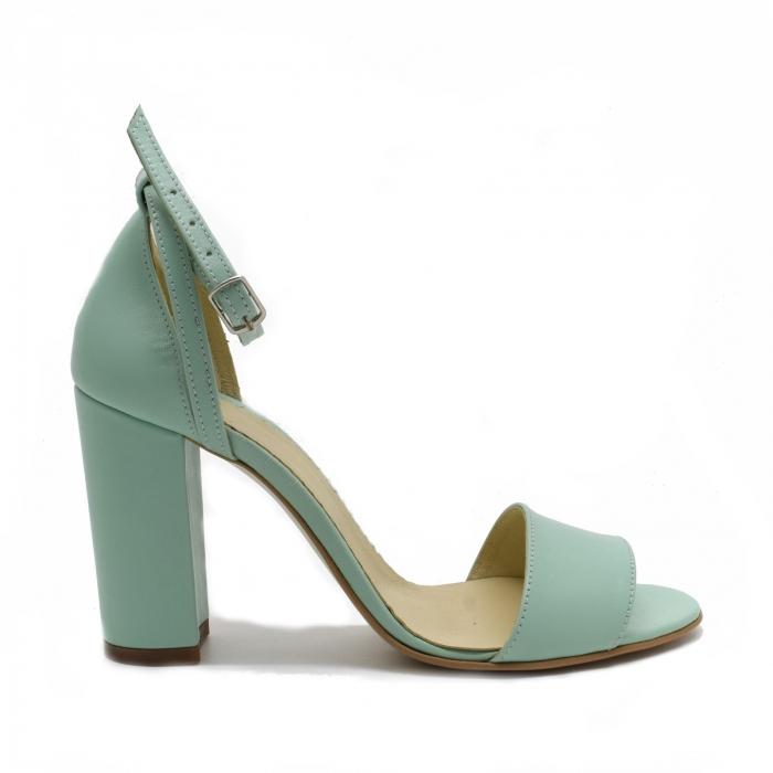 Sandale dama din piele Turcoaz, Lyly 1