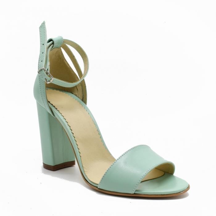 Sandale dama din piele Turcoaz, Lyly 2
