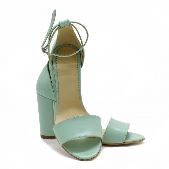 Sandale dama din piele Turcoaz, Lyly 3
