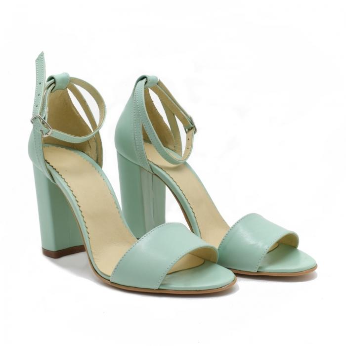 Sandale dama din piele Turcoaz, Lyly 0