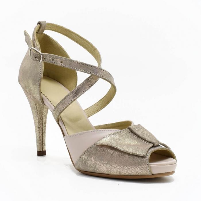 Sandale din piele aurie Melissa 2