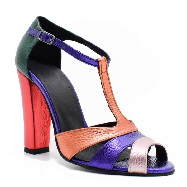 Sandale din piele naturala cu toc de 10 cm Martha 2