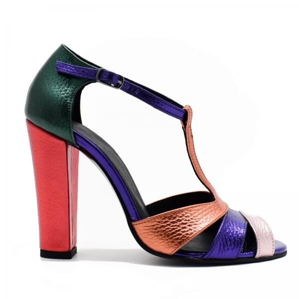 Sandale din piele naturala cu toc de 10 cm Martha 1