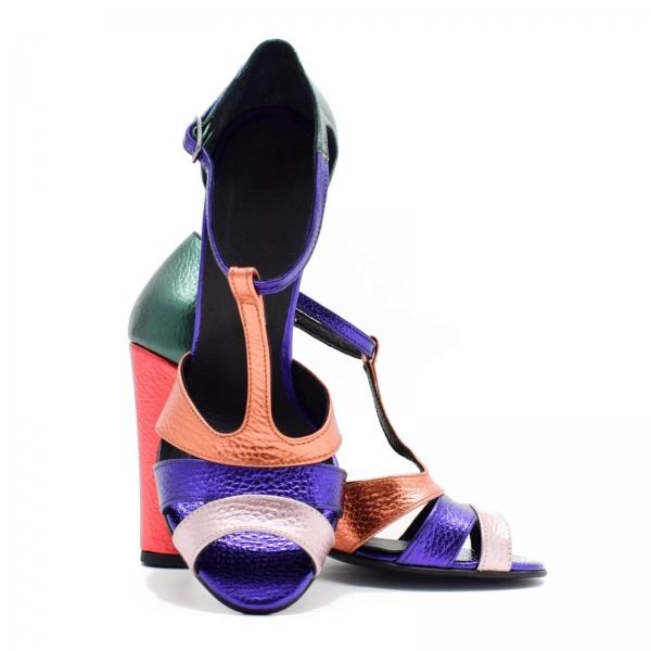 Sandale din piele naturala cu toc de 10 cm Martha 3