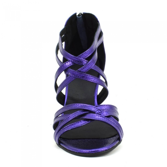 Sandale din piele naturala mov sidefat Ancona 3