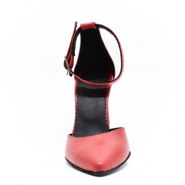 Sandale din piele naturala rosie Manuela 3