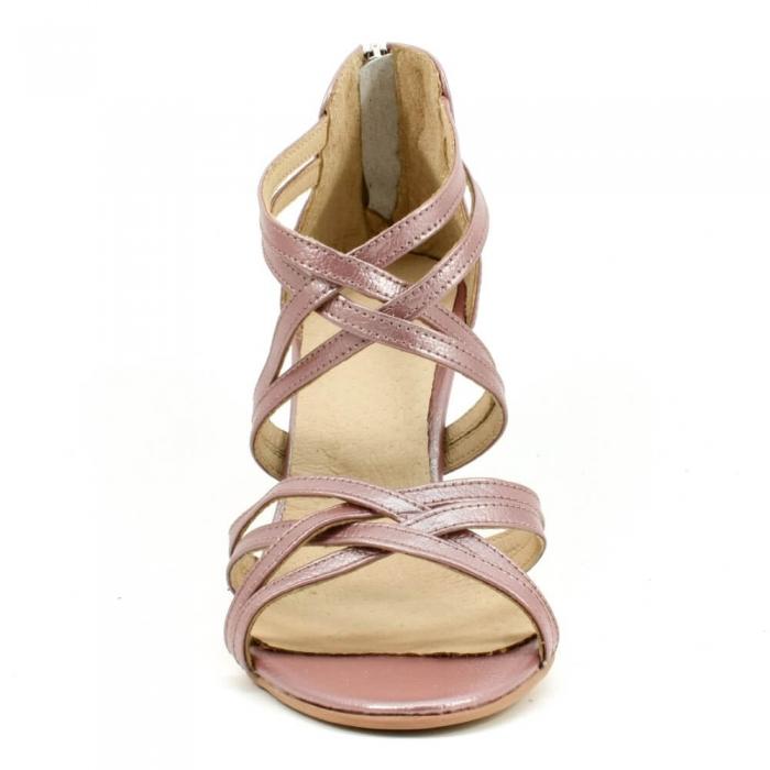Sandale din piele naturala roze gold Agrigento 3
