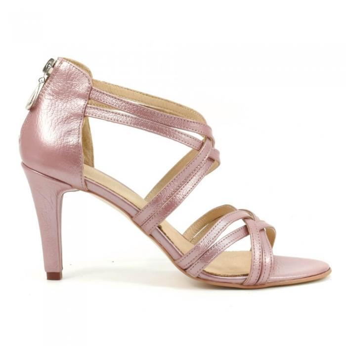 Sandale din piele naturala roze gold Agrigento 1