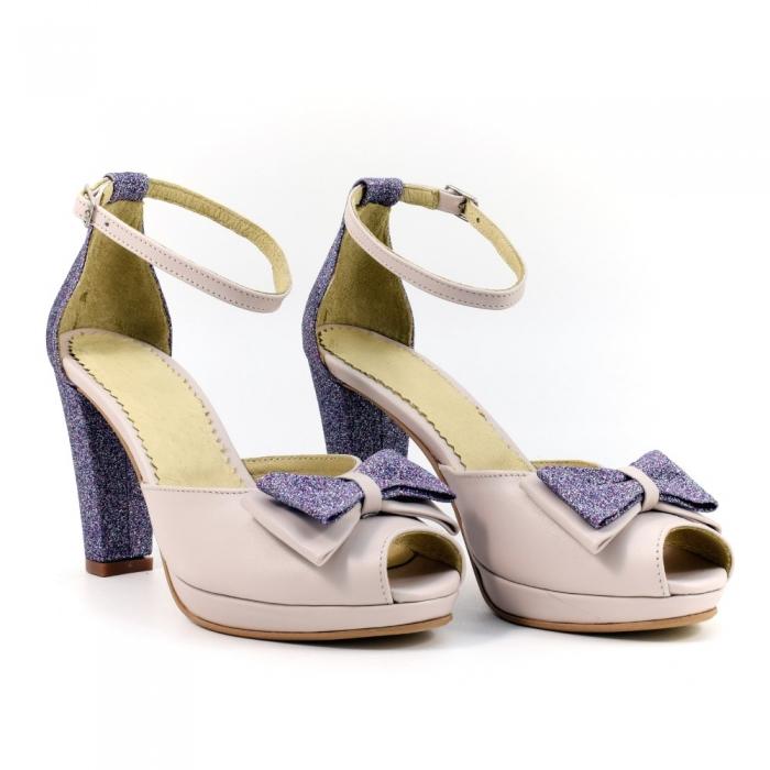 Sandale din piele naturala Silvianna 0