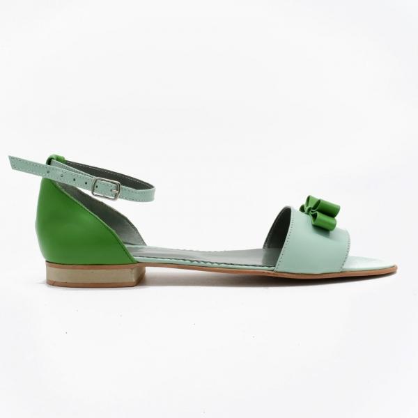 Sandale din piele naturala verde Lizy 1