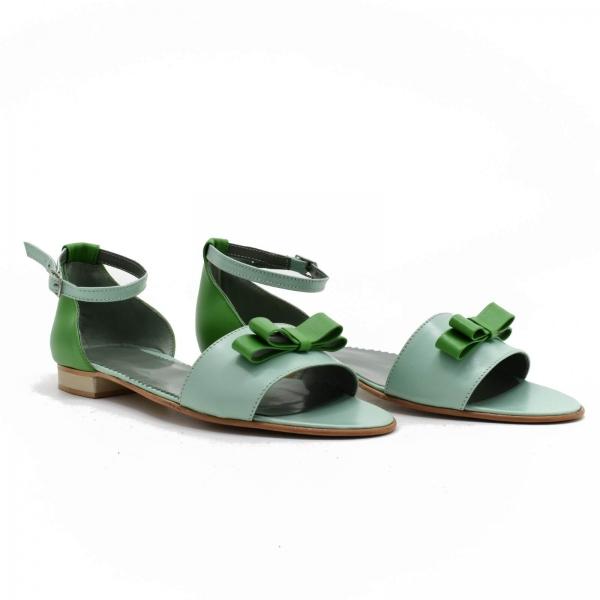 Sandale din piele naturala verde Lizy 0