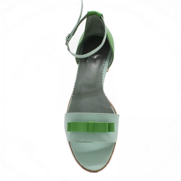 Sandale din piele naturala verde Lizy 3