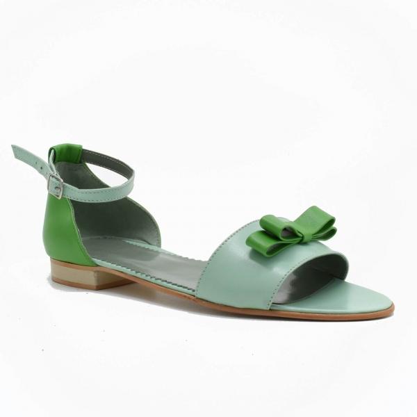 Sandale din piele naturala verde Lizy 2