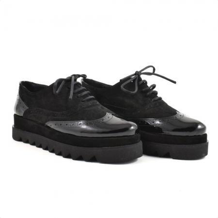 Pantofi din piele naturala Neagra Melinda 2 ( GM 1911)0