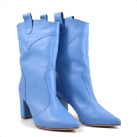 Ghete elegante, piele naturala bleu G 2210