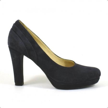 Pantofi din piele intoarsa neagra Mauro (P 210)1