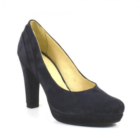 Pantofi din piele intoarsa neagra Mauro (P 210)2