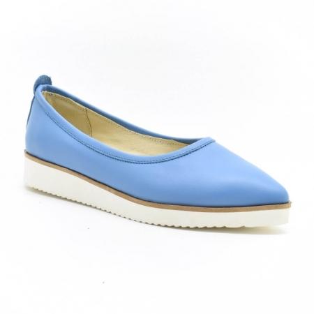 Balerini din piele naturala bleu Maliana2
