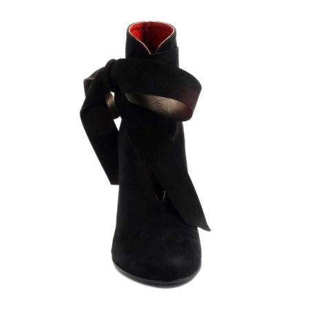 Botine Dama Piele Neagra Theo - Orice Culoare2