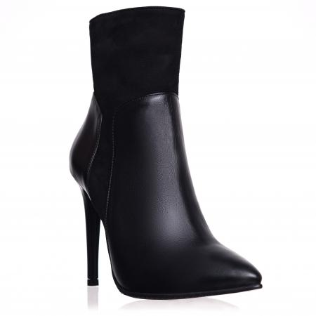 Botine din piele naturala C 08 Black Boots Lovers0