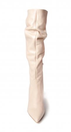 Cizme elegante din piele Box Nude Stylish CZ 071