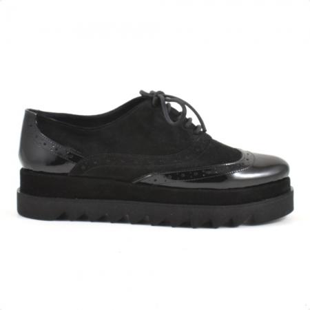 Pantofi din piele naturala Neagra Melinda 2 ( GM 1911)1