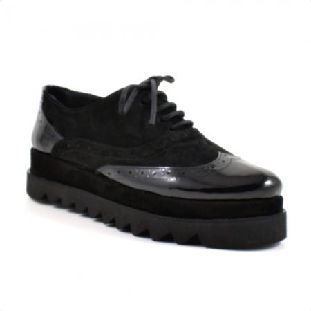 Pantofi din piele naturala Neagra Melinda 2 ( GM 1911)2