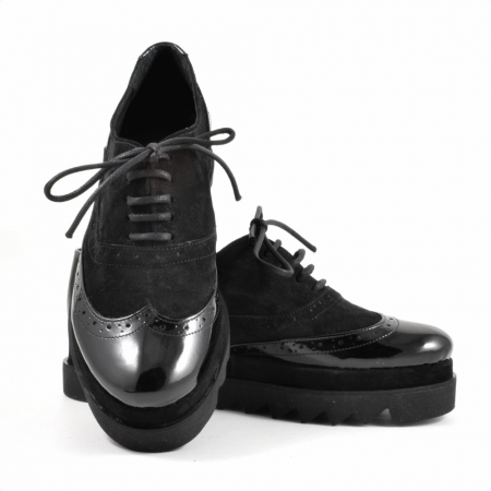 Pantofi din piele naturala Neagra Melinda 2 ( GM 1911)3