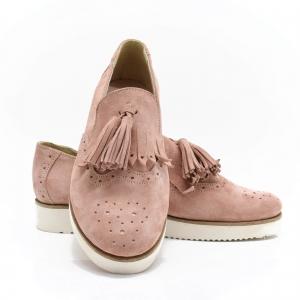 Pantofi din piele naturala Simonne Roze2