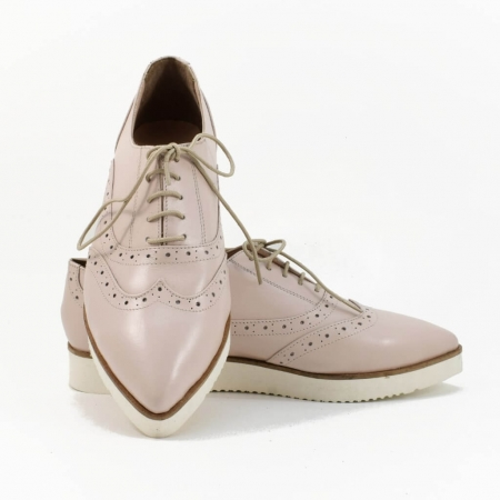 Pantofi din piele nude roze Ariela3