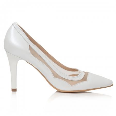 Pantofi Stiletto Be My Bride CZ 181