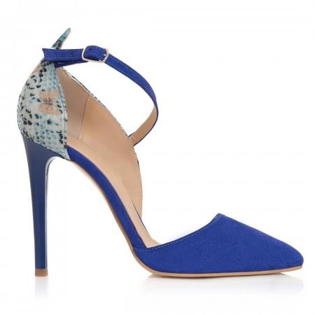 Pantofi Stiletto Blue Divine CZ 191