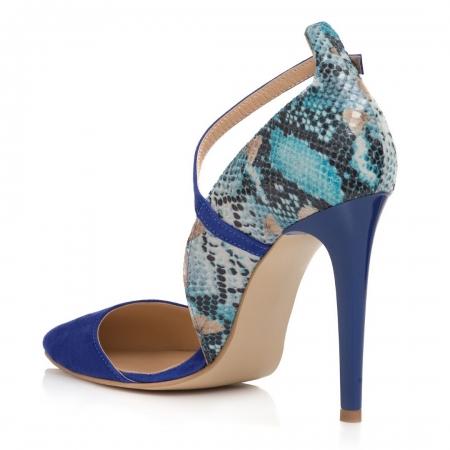 Pantofi Stiletto Blue Divine CZ 192