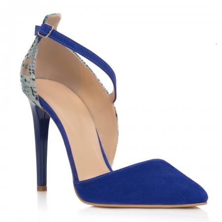Pantofi Stiletto Blue Divine CZ 190