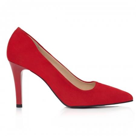 Pantofi Stiletto Carline Red CZ 214