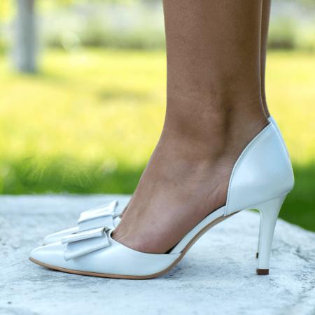 Pantofi Stiletto Bride Ivory CZ 110