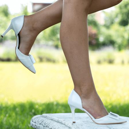 Pantofi Stiletto Bride Ivory CZ 112