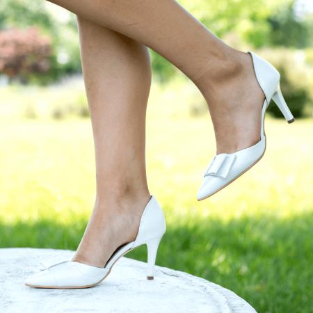 Pantofi Stiletto Bride Ivory CZ 111