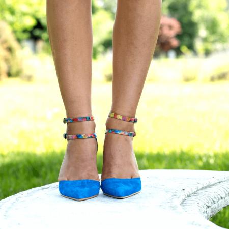 Pantofi Stiletto Blue Joy CZ 091