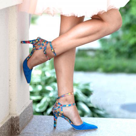 Pantofi Stiletto Blue Joy CZ 095