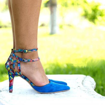 Pantofi Stiletto Blue Joy CZ 092