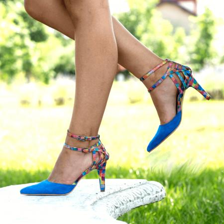 Pantofi Stiletto Blue Joy CZ 093
