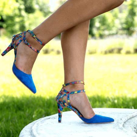Pantofi Stiletto Blue Joy CZ 090