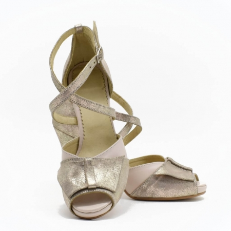 Sandale din piele aurie Melissa3