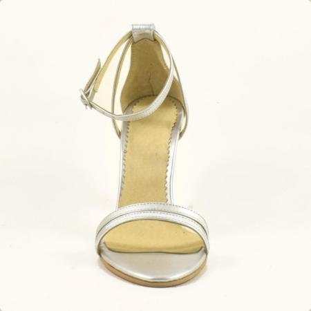 Sandale din piele naturala argintie Milano (GM 1912)3