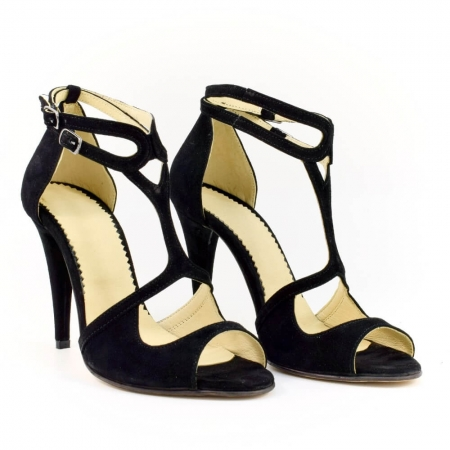 Sandale din piele naturala cu toc de 10 cm Amaretto (GM 1901)0